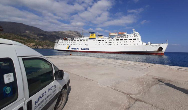 Mini Bus in Diafani Harbour